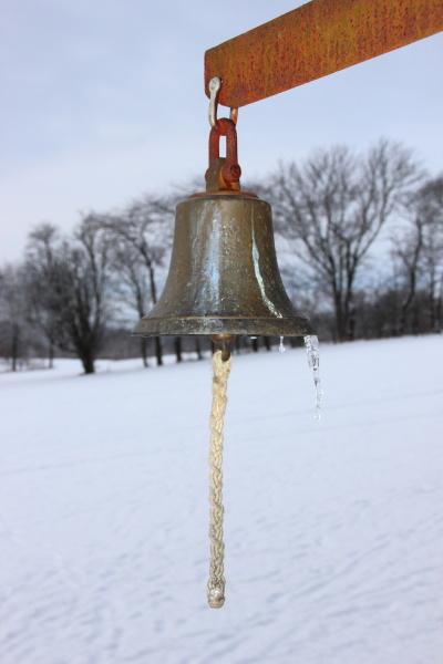 sinal som inverno campo congelado ao