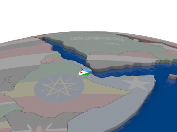 djibuti com bandeira