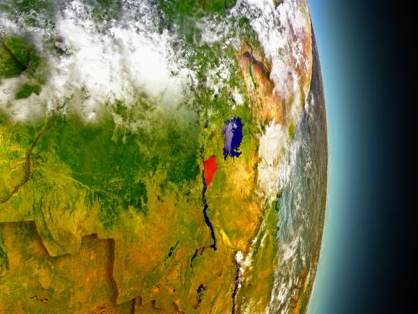 espaco ciencia africa ilustracao satelite pais