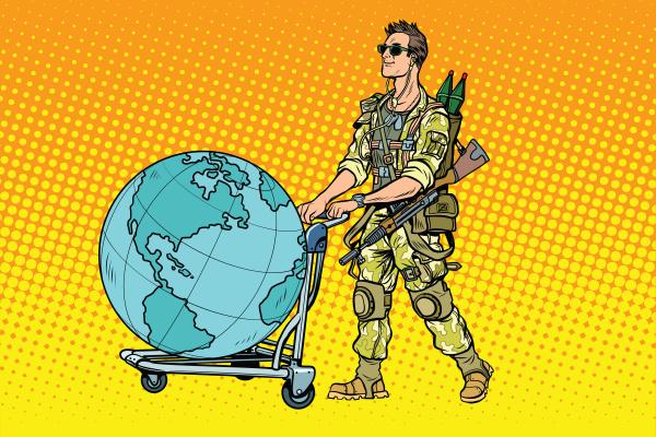 turismo militar o mercenario com um
