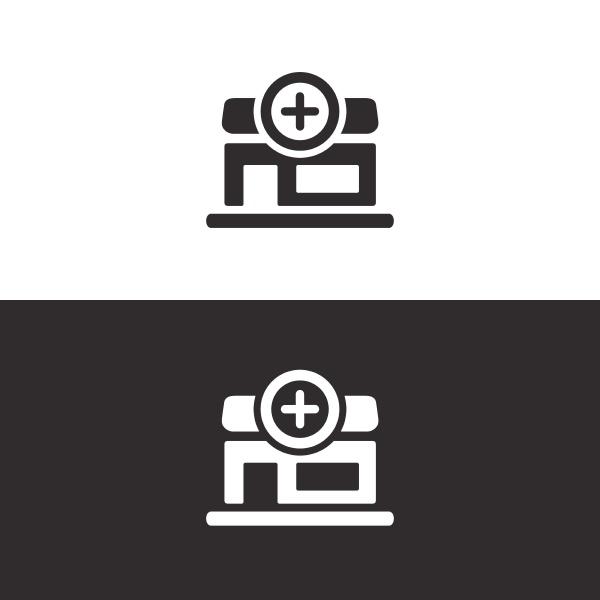 Icone da farmacia imagem isolada ilustracao