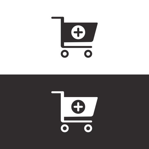 Icone do carrinho de farmacia de