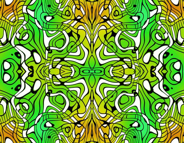 allover, repetindo, padrão, azulejo, verde, amarelo - 28215363