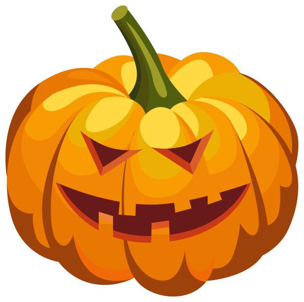 cabeça, de, abóbora, halloween, com, ilustração - 28215335