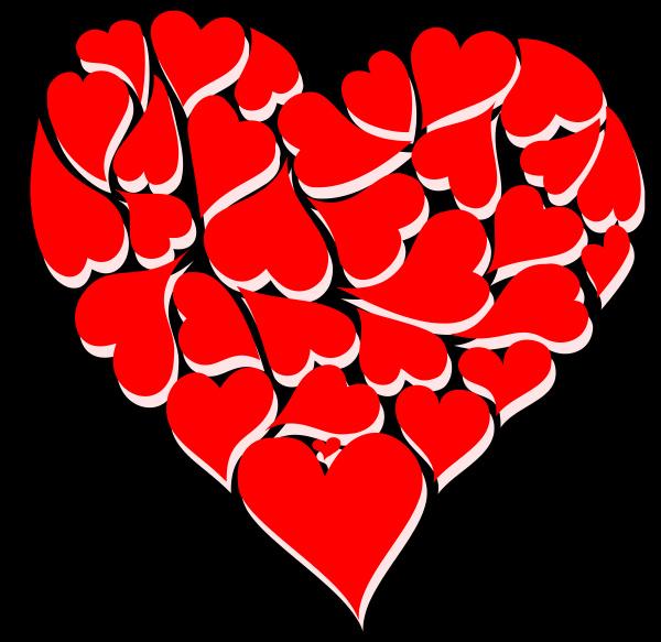 formas, de, coração, vermelho, com, ilustração - 28215339