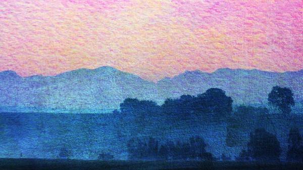 paisagem, com, neblina, matinal, sobre, prado - 28215126