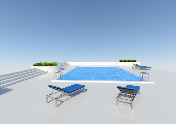 piscina, de, renderização, 3d, fora - 28215302