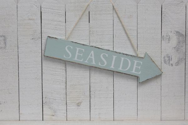 placa, à, beira-mar, pendurada, em, madeira - 28215398