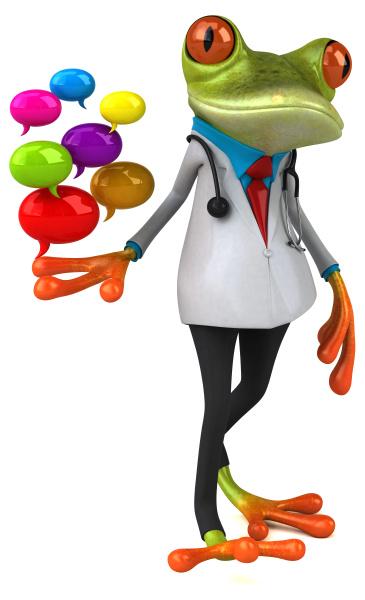 médico, sapo, -, ilustração, 3d - 28217428