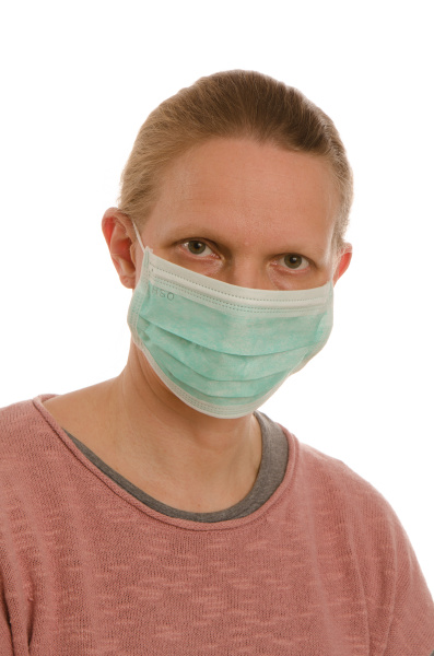 mulher, com, proteção, bucal, e, máscara - 28231687