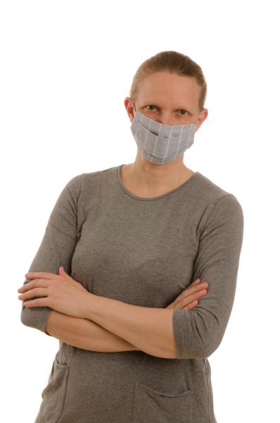mulher, com, proteção, bucal, e, máscara - 28231692