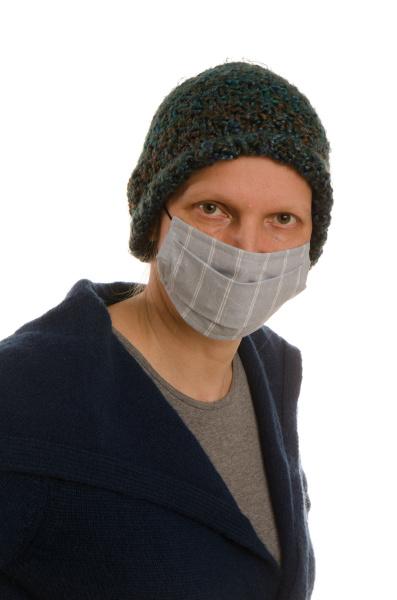 mulher, com, proteção, bucal, e, máscara - 28231695