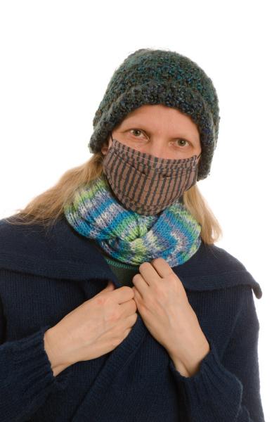 mulher, com, proteção, bucal, e, máscara - 28231698