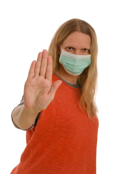 mulher, com, proteção, bucal, e, máscara - 28232117