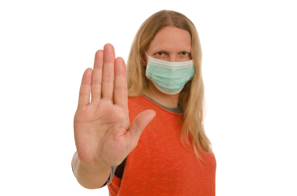 mulher, com, proteção, bucal, e, máscara - 28232132