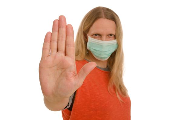 mulher, com, proteção, bucal, e, máscara - 28232135