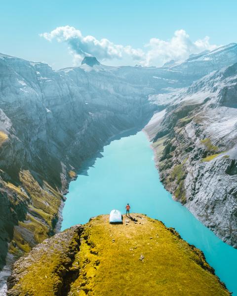 vista aerea de limmernsee suica