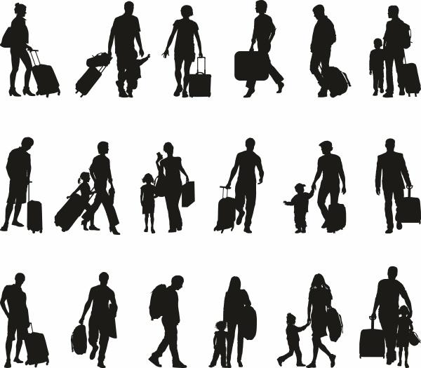 pessoas turistas viajantes migrantes refugiados