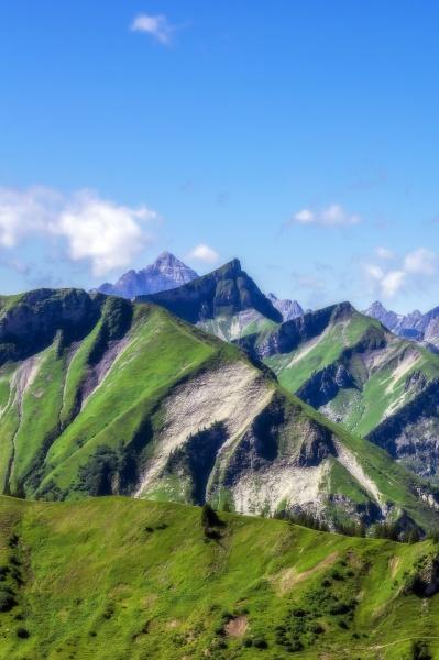 Austria tirol vista cenica dos picos