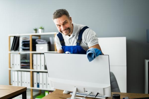 servico de zelador de limpeza de