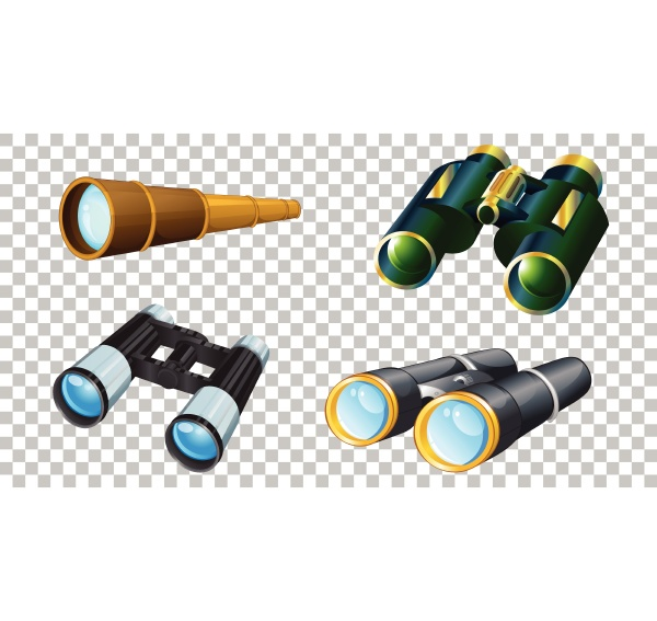 set, of, different, binoculars, isolated, on - 30461893