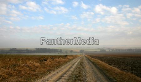 estrada de terra campo caminho solo