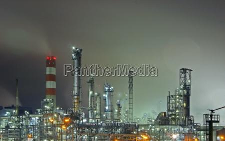 luzes viena gas tanque gasolina refinaria