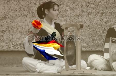 mulher musica cultura cor asia colorido
