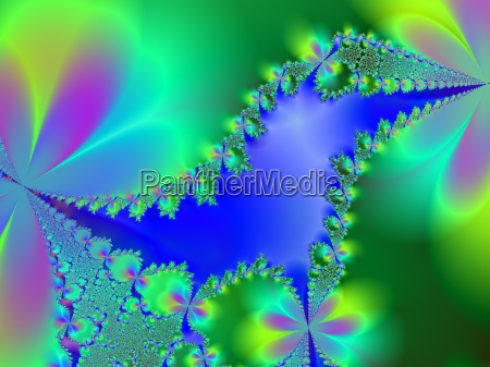 azul verde fractal computadores computador natureza