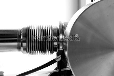 detalhe experimento ciencia pesquisa metal laboratorio