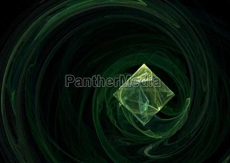 belo agradavel arte fantasia cristal geometria