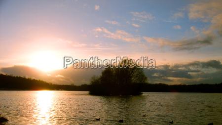 inverno por do sol tranqueilidade hamburgo