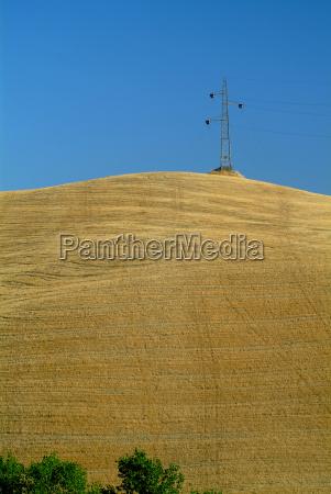 hochspannungsmast on wheat field