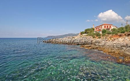 ferias grecia praia beira mar da