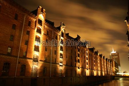 noite hamburgo estilo de construcao arquitetura