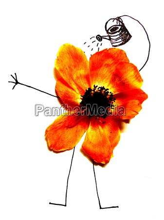 lazer jardim planta flor flores ilustracao