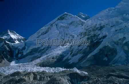 montanhas tibete geleira nepal altas montanhas