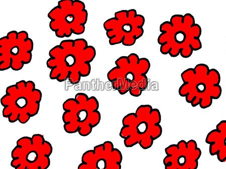 flor planta desenho foto formacao vermelho