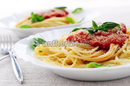 massas e molho de tomate