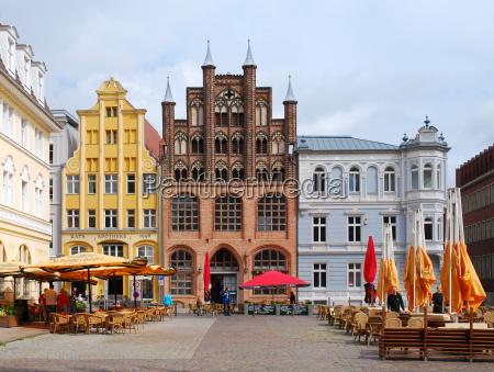 janela hansestadt guarda chuvas fachada mercado