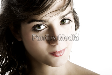 portrait of beautiful young and sensual