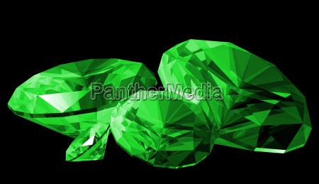 liberado ilustracao isolado diamante esmeralda gerados