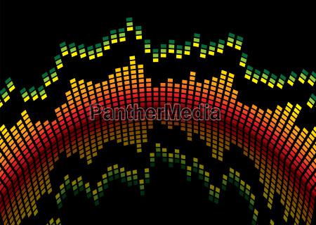 musica grafico abstrato organizador equalizador transparente