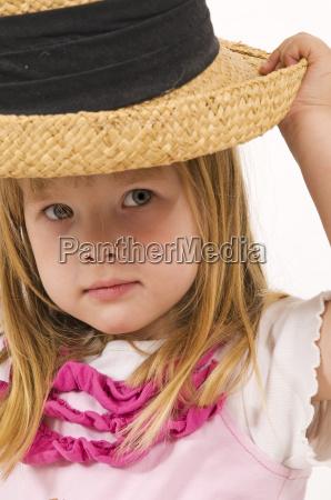 little girl as mannequin