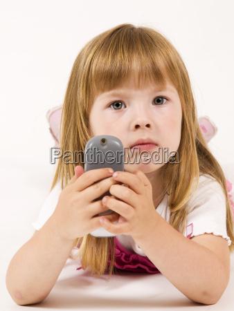little girl looking innocent