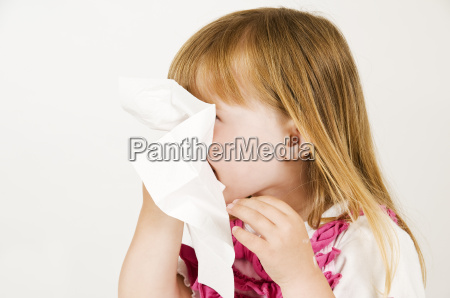 girl with tissue