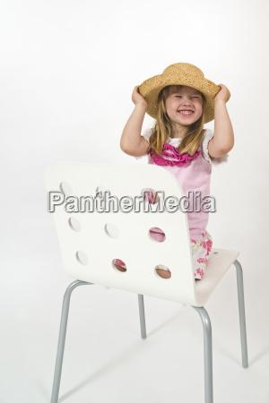 girl on chair