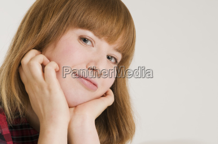 portrait of young woman horizontal