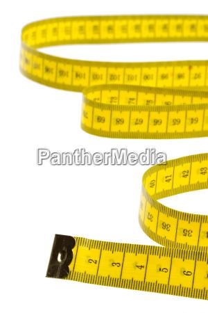 medida de fita amarela isolada