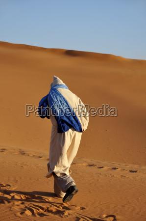 beduin in the sahara morocco